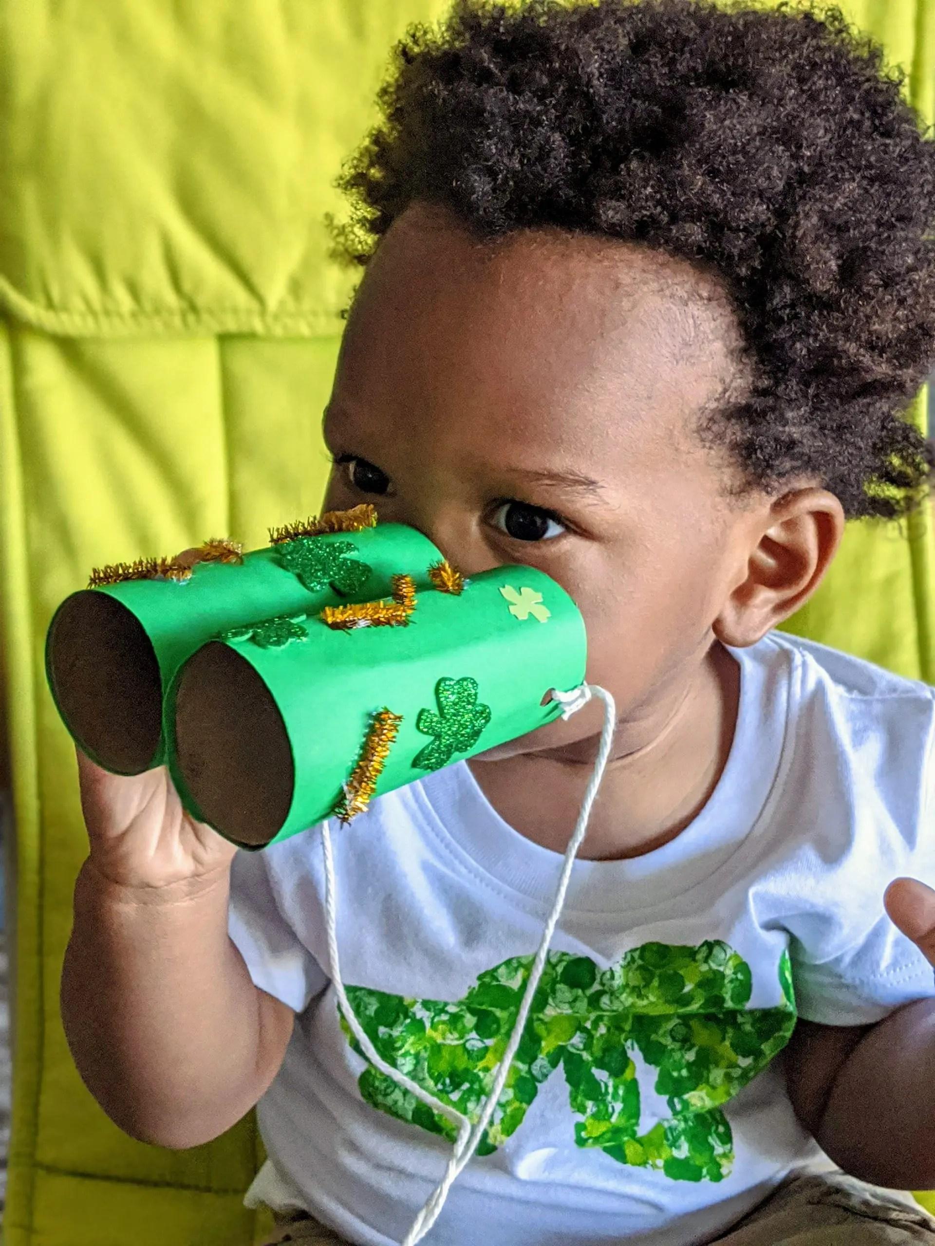 toddler celebrating St. Patrick's Day