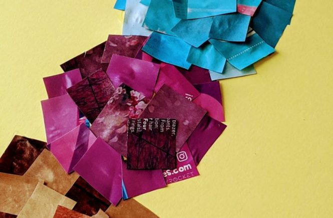 magazine collage art summer craft