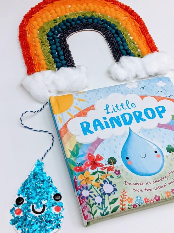 beautiful rainbow pasta craft for kids