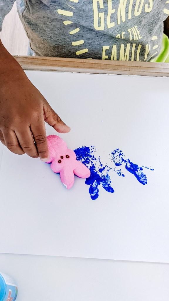 PEEPS Stamp Easter Bunny Art