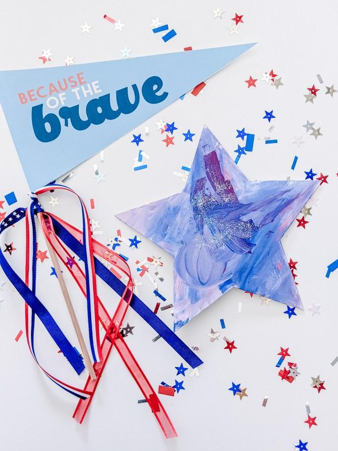 Patriotic star craft for kids