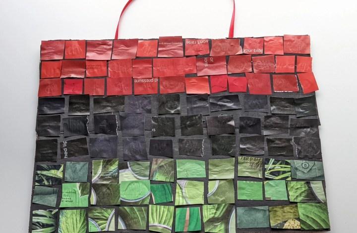 magazine mosaic Juneteenth flag