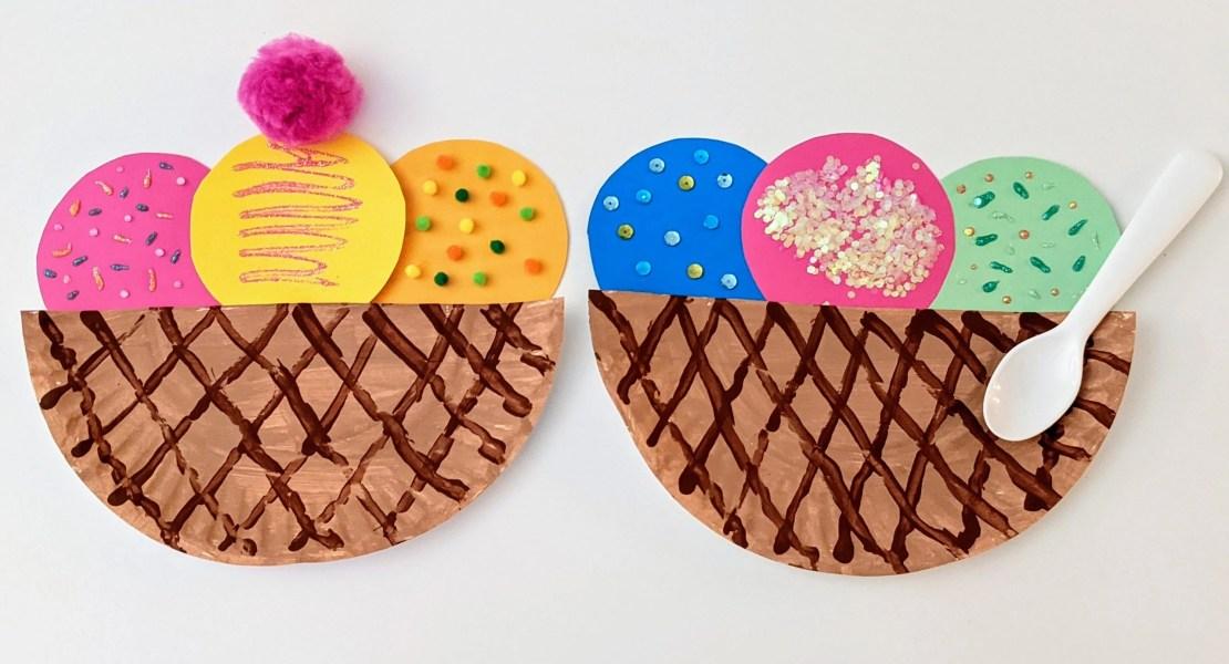 paper plate ice cream craft