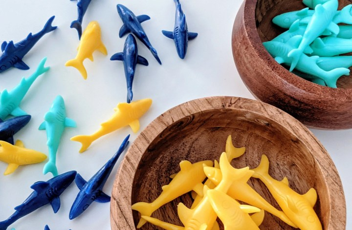 colorful shark math activities for kids