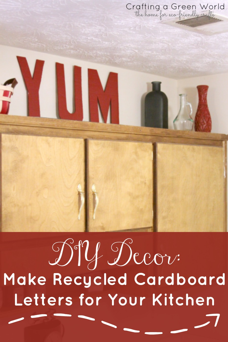 DIY Decor Make Recycled Cardboard Letters for Your Kitchen  Crafting a Green World