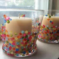 Confetti candle holders