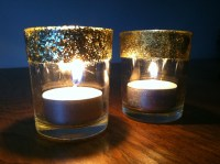 Glitter votive candle holders | Crafting and Cooking