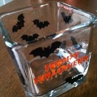 Halloween glass painting