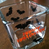 Halloween glass painting