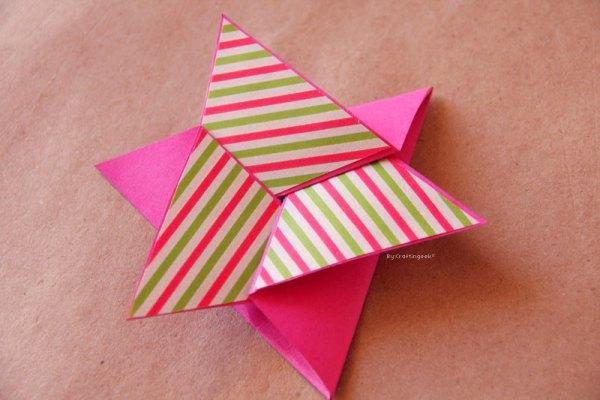 Como hacer un tarjeta estrella paso a paso