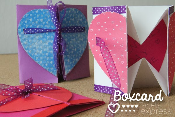 Caja tarjeta para enamorados