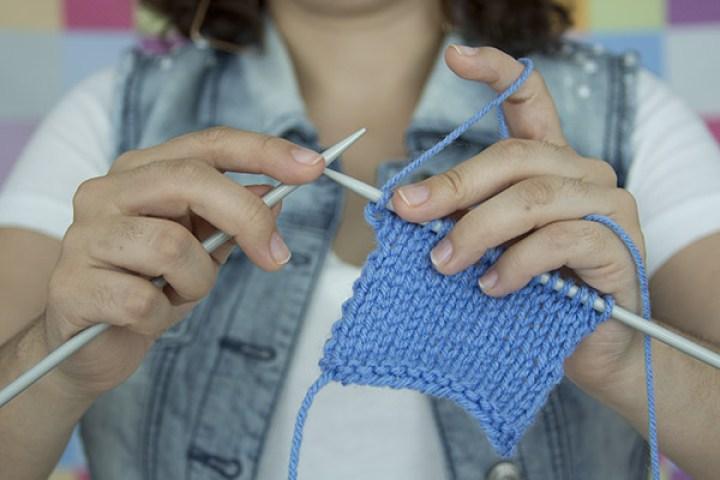 como tejer con agujas