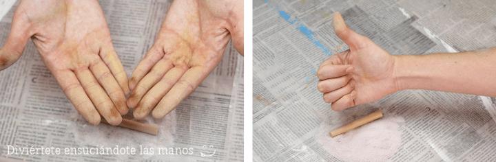 Cómo hacer arena de colores usando sal / How to make colored salt