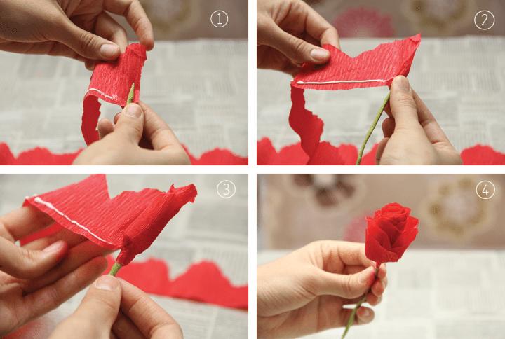 Cómo hacer flores de papel crepé para regalar a tu mamá // DIY Crepe paper flowers for Mother's Day