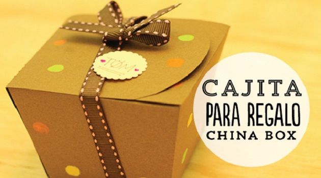 Haz una caja como las de la comida china. Llénala de algo dulce. Será un regalo especial para tu mamá | Make a box like Chinese food and add something sweet. It will be a special gift for your mom.