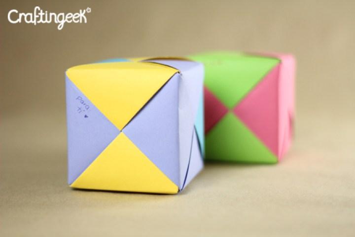 Cómo hacer un cubo modular relleno de dulces