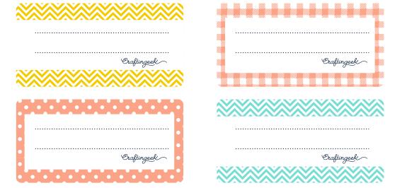 Etiquetas para cuadernos para descargar