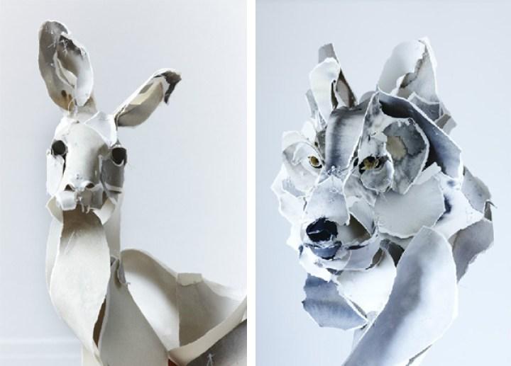 Esculturas en papel (3)