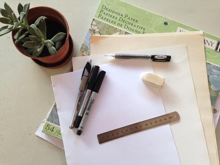 hacer letra cursiva elegante, materiales que necesitas.