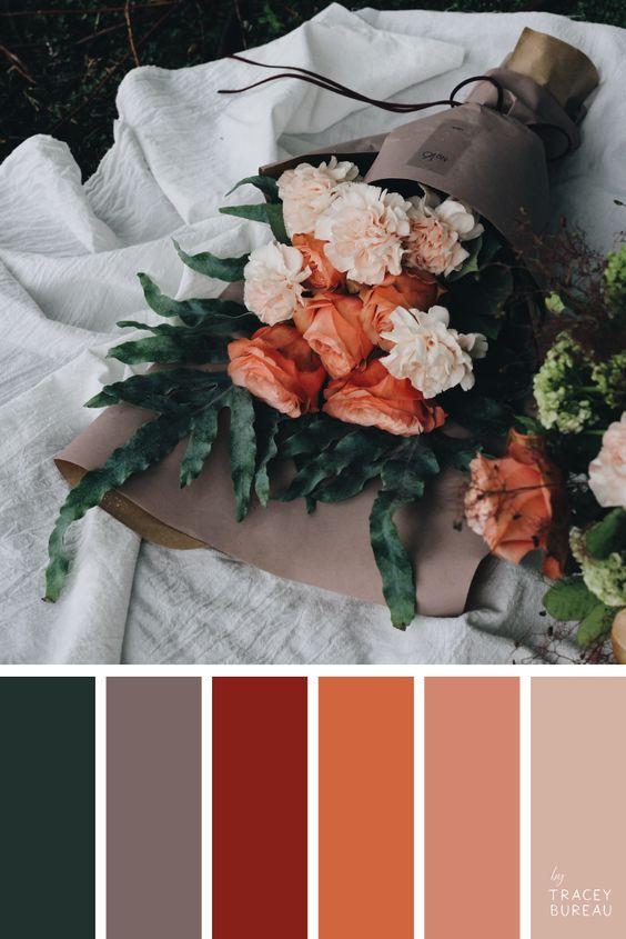 Combinaciones de colores para otoño: Flores