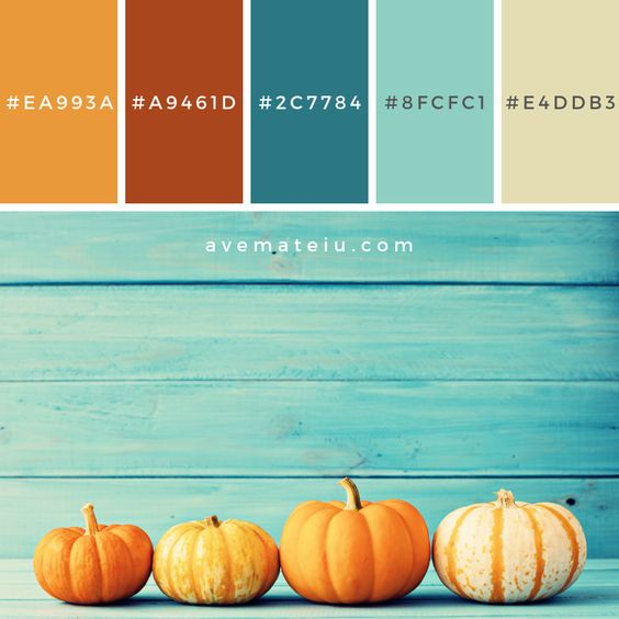 Combinacion de color para Otoño: Calabazas