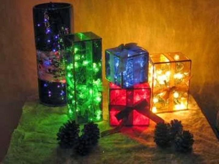 CAJITA LUMINOSA 1 luces de navidad