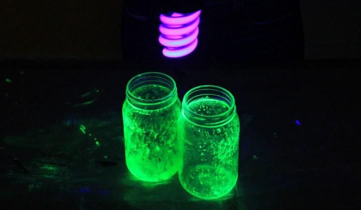 frascos fluorescentes luz negra-b