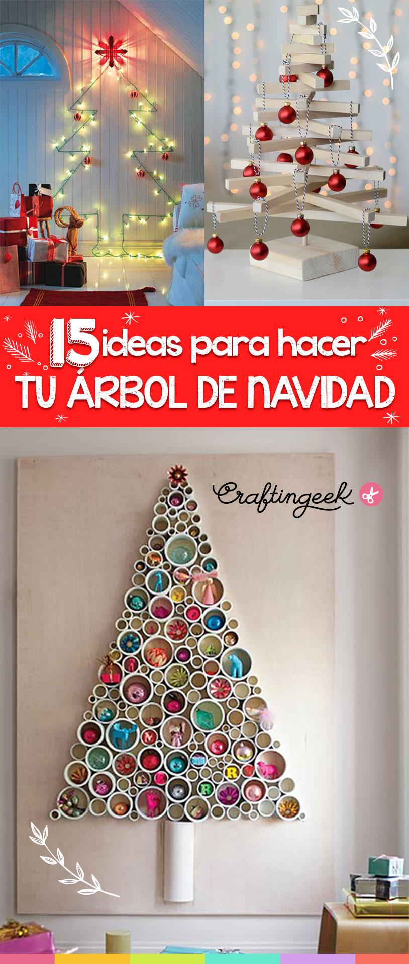 15 ideas para hacer tu propio árbol de navidad ~ Craftingeek