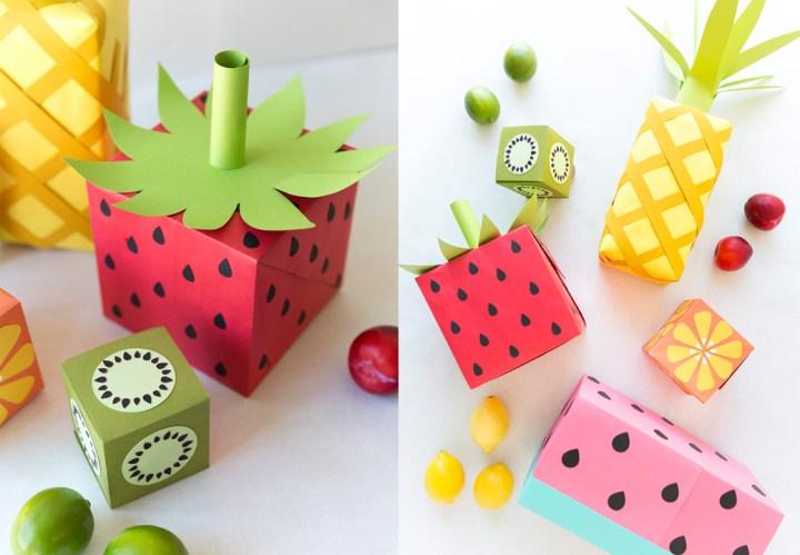 como envolver regalos en forma de frutas