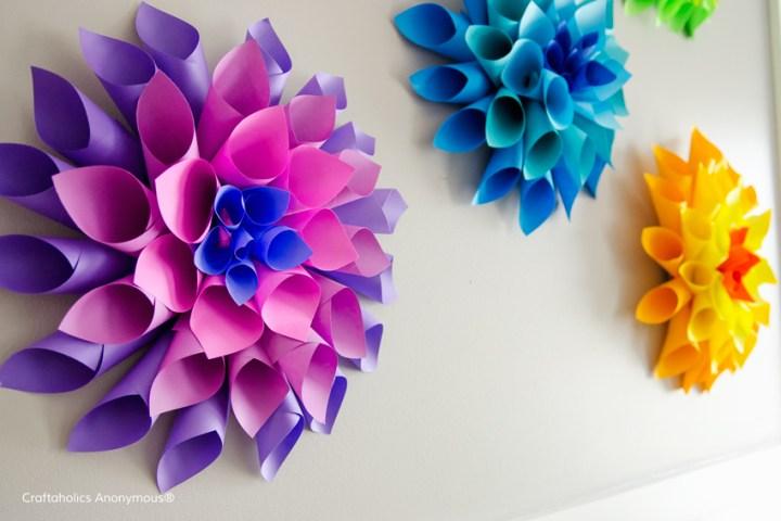 dalia flores de papel