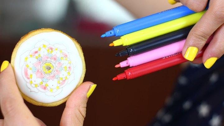 marcadores comestibles galleta
