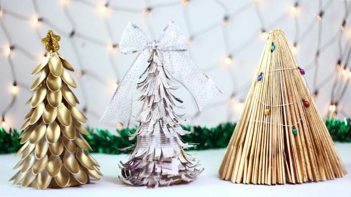 ideas arboles de navidad reciclados