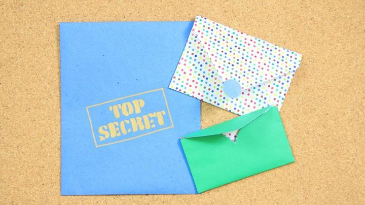 3 sobres de papel faciles para hacer en casa