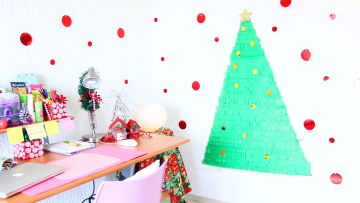 pino navidad para la pared