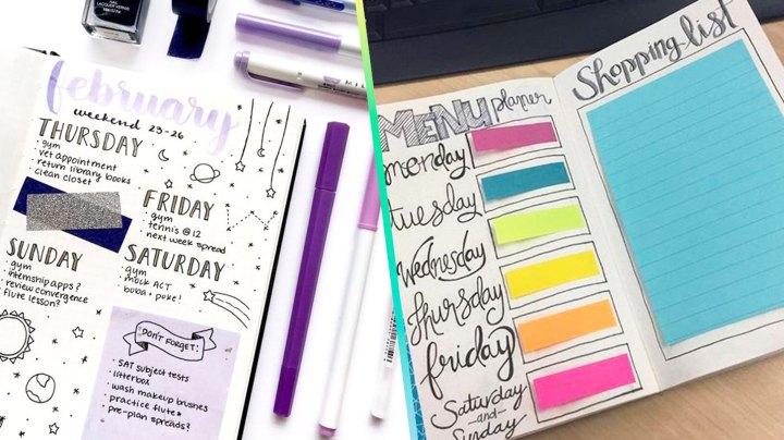 Agrega washi tape y notas adhesivas a tus apuntes para hacerlos más bonitos