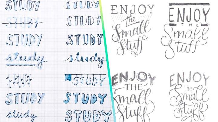 Lettering para tus apuntes bonitos: ideas
