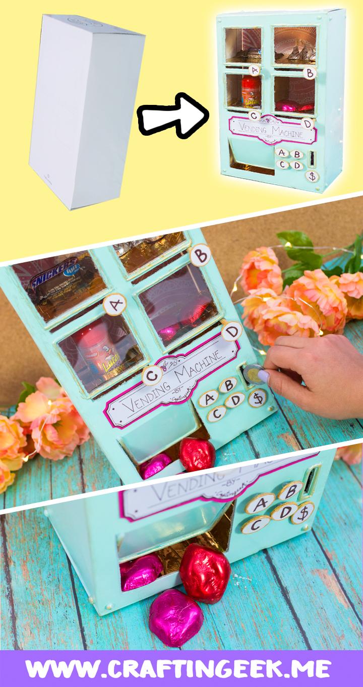 Maquina expendedora de dulces casera - Máquina de cartón Craftingeek