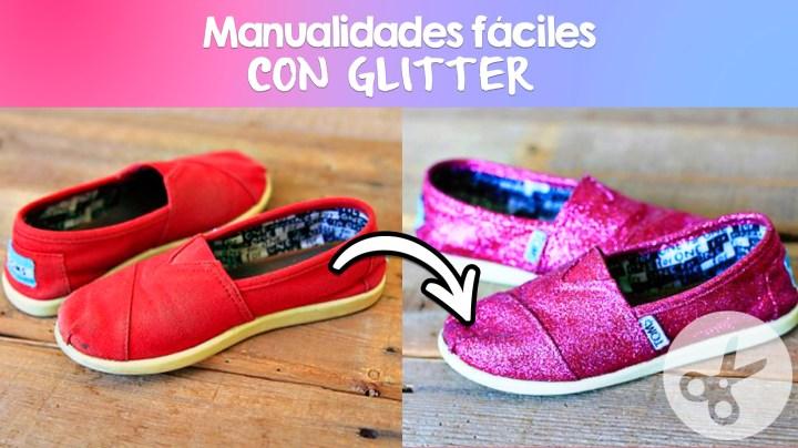 manualidades que puedes decorar con glitter
