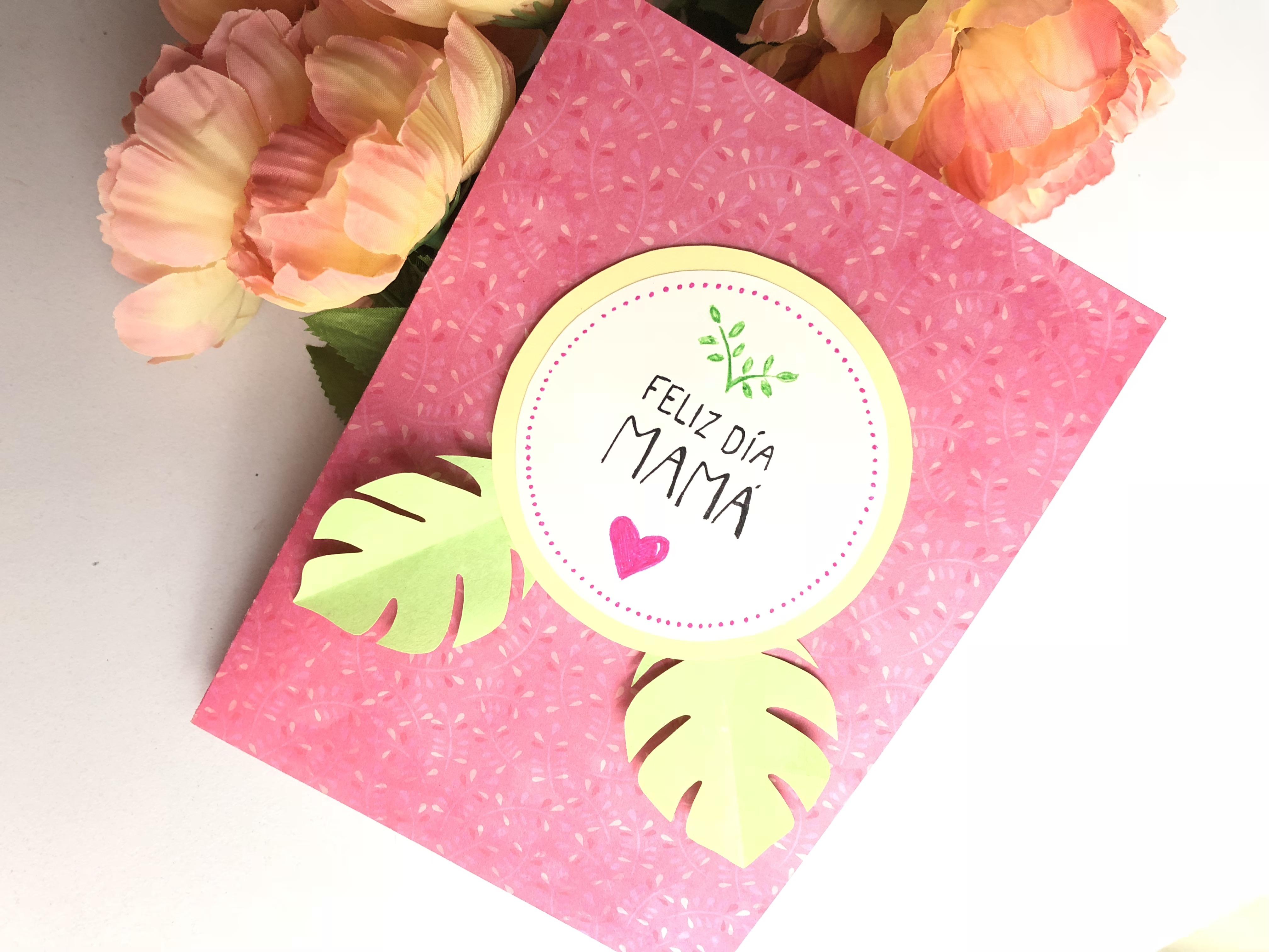 tarjeta flores pop up mama