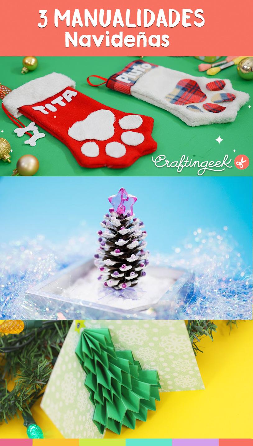 3 Manualidades de navidad que puedes hacer en casa fácil