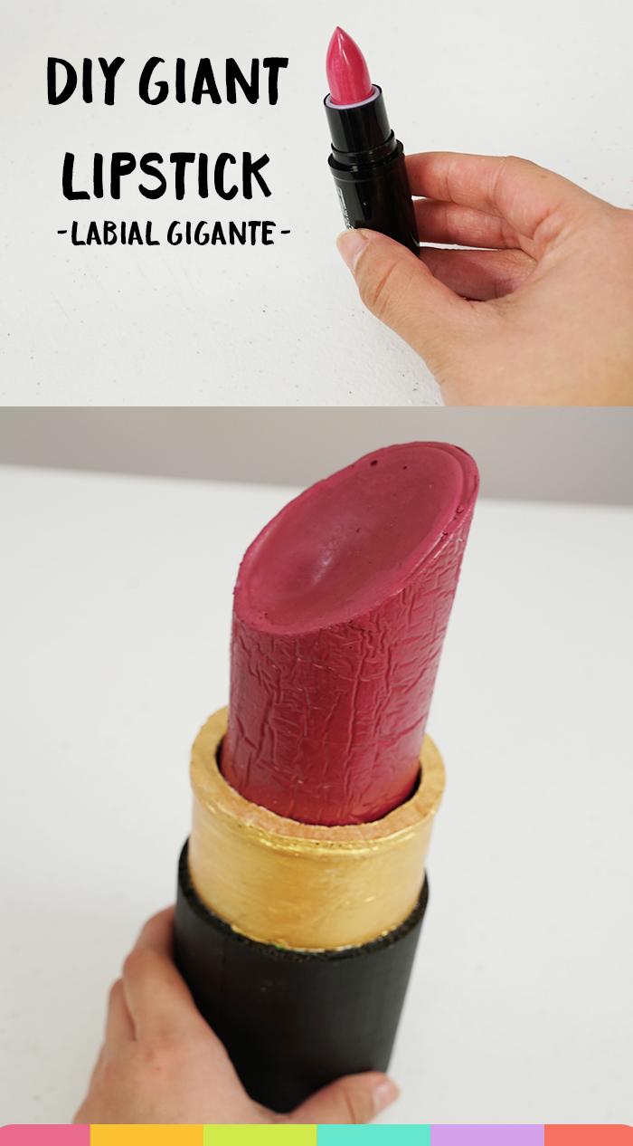 Derretí todos mis labiales para hacer este Labial Gignte |  I melted all my lipsticks to make this Giant Lip