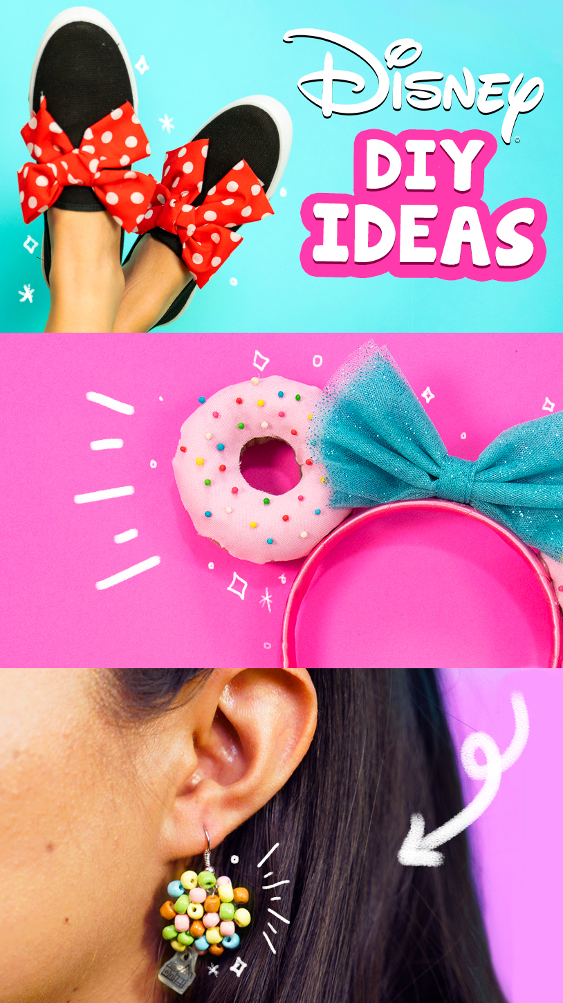 Descubre la magia de Disney en este tutorial y recrea los DIY de los siguientes Productos Disney: Zapatillas Minnie Mouse, Diadema de donas y Aretes Up | Discover the magic of Disney in this tutorial and recreate Disney DIY Products: Minnie Mouse Shoes, Donut Headband and Earrings Up