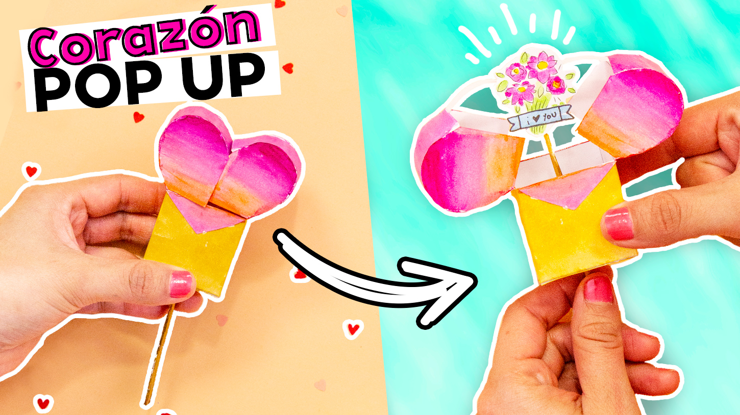 Corazon pop-up paso a paso