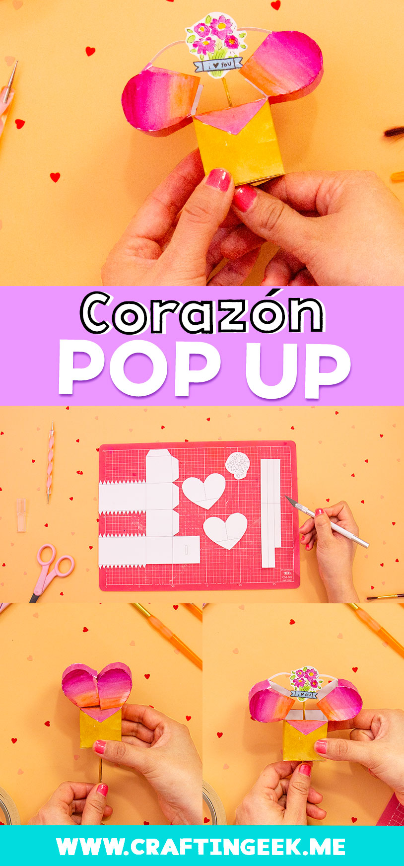 Regala a tu mamá un corazón Pop Up por el día de las madres ¡Le va encantar! | Heart Pop-up for Mothers Day and Valentine's Day