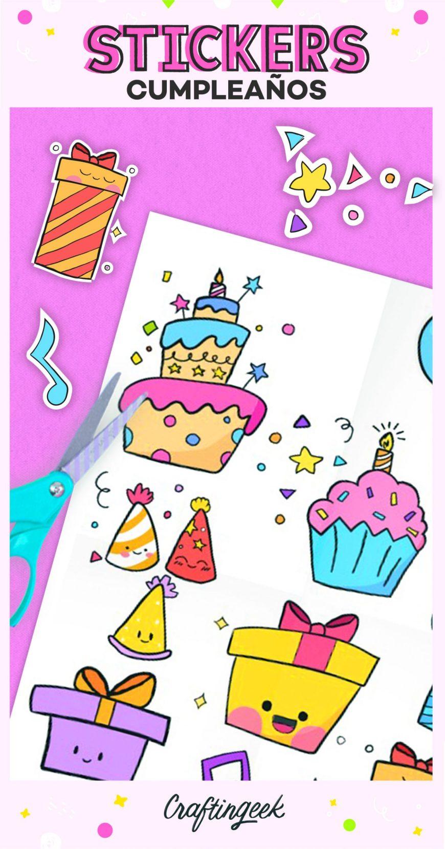 Stickers de cumpleaños