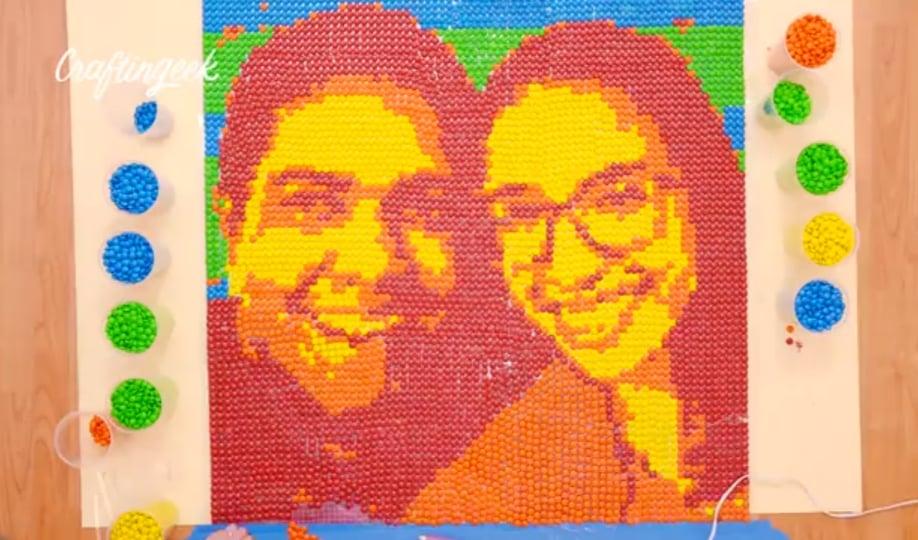 Como hacer un cuadro de pixel art facil con lunetas