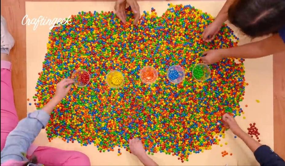 separar las lunetas por colores