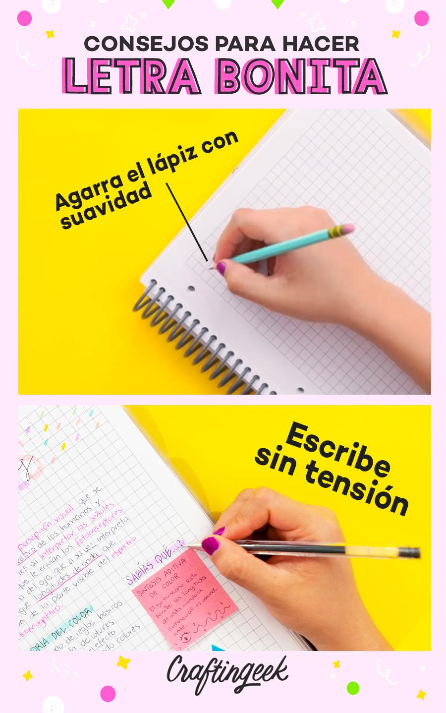 Consejos para mejorar tu letra: Sujeta el lápiz con suavidad