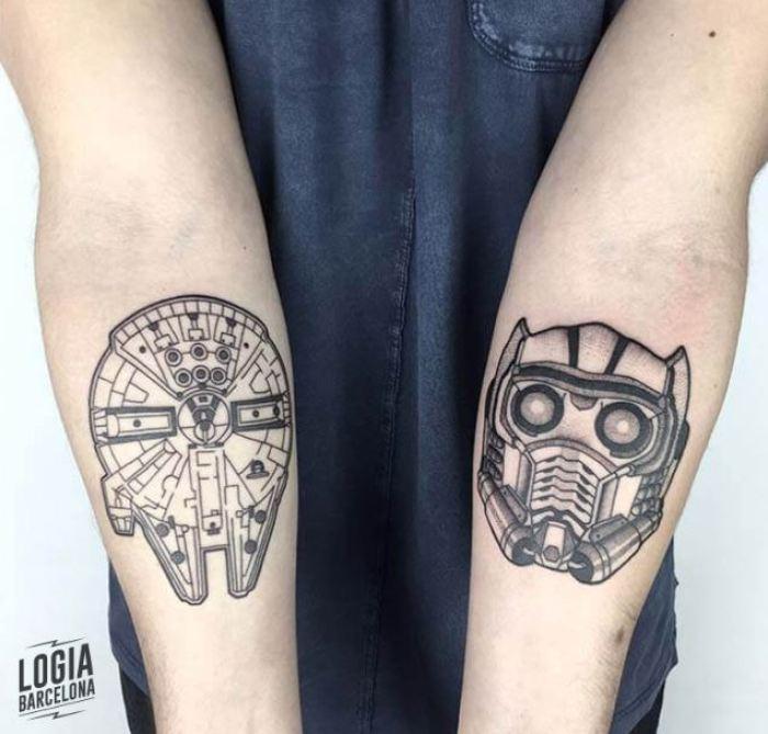 2 tatuajes de Star Wars