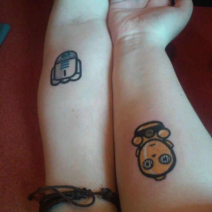 Star Wars tatuajes para hacerte en pareja
